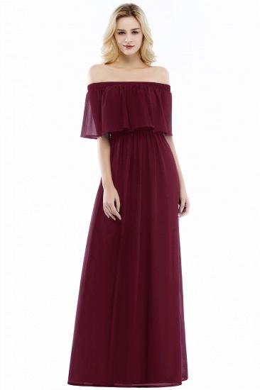 BMbridal A-line Off-the-Shoulder Chiffon Bridesmaid Dress_1