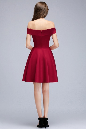 BMbridal A-line Off-the-shoulder Short Burgundy Homecoming Dress_4