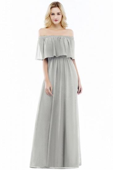 BMbridal A-line Off-the-Shoulder Chiffon Bridesmaid Dress_3