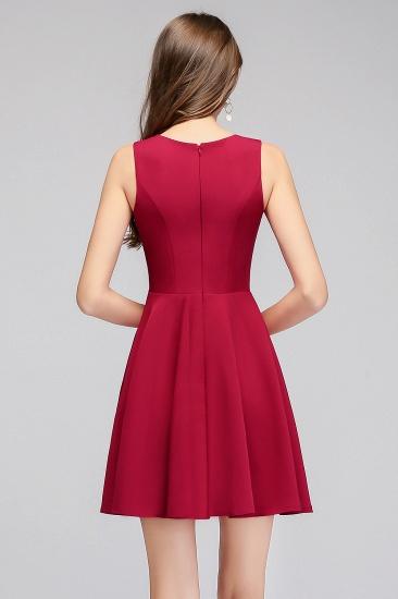 BMbridal A-line Sleeveless Short V-neck Tulle Neckline Homecoming Dress_3