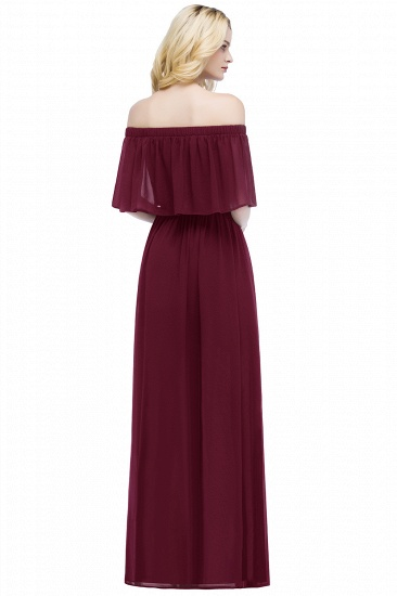 BMbridal A-line Off-the-Shoulder Chiffon Bridesmaid Dress_11