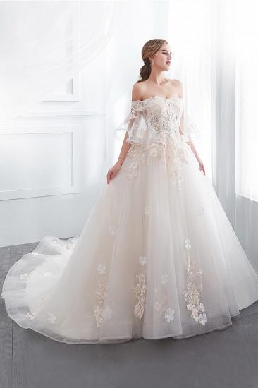 BMbridal Off-the-shoulder Appliques Ball Gown Wedding Dress Online_5