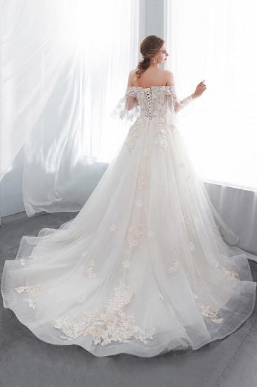 BMbridal Off-the-shoulder Appliques Ball Gown Wedding Dress Online_6