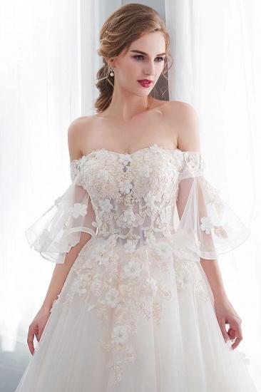 BMbridal Off-the-shoulder Appliques Ball Gown Wedding Dress Online_8