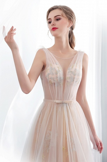 BMbridal Charming Sleeveless Embrodiery Long prom Dress With Lace-up_4