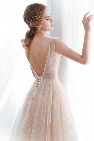 BMbridal Charming Sleeveless Embrodiery Long prom Dress With Lace-up_8