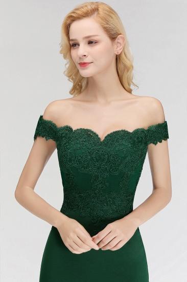 BMbridal Mermaid Off-the-shoulder Long Appliques Satin Bridesmaid Dress_6