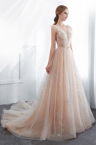 BMbridal Charming Sleeveless Embrodiery Long prom Dress With Lace-up_7