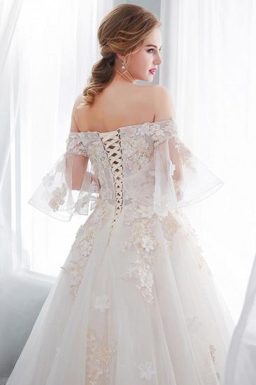 BMbridal Off-the-shoulder Appliques Ball Gown Wedding Dress Online_10