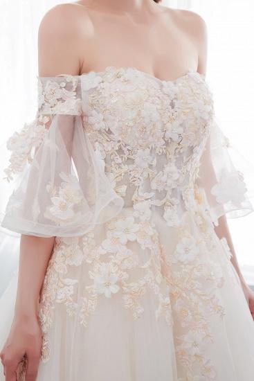 BMbridal Off-the-shoulder Appliques Ball Gown Wedding Dress Online_9