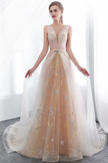 BMbridal Charming Sleeveless Embrodiery Long prom Dress With Lace-up_6