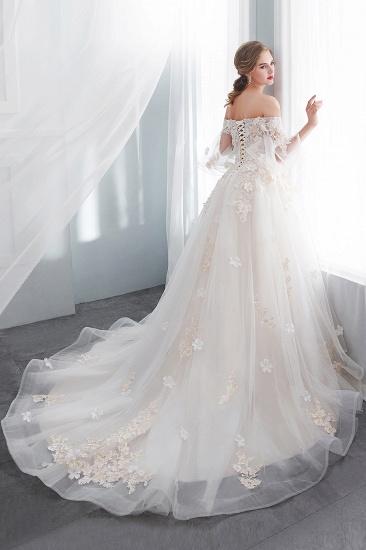 BMbridal Off-the-shoulder Appliques Ball Gown Wedding Dress Online_2