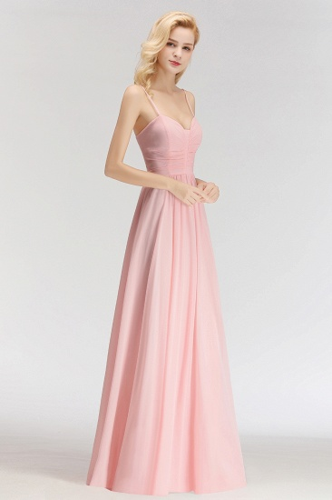 BMbridal Chiffon Spaghetti-Straps Sleeveless Affordable Bridesmaid Dress Online_5