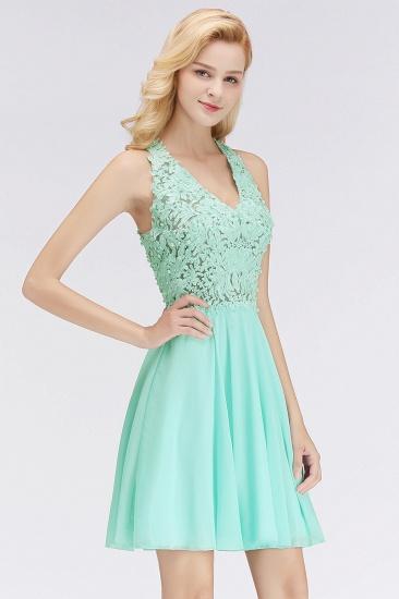 BMbridal A-line V-neck Sleeveless Short Appliques Chiffon Homecoming Dress_8