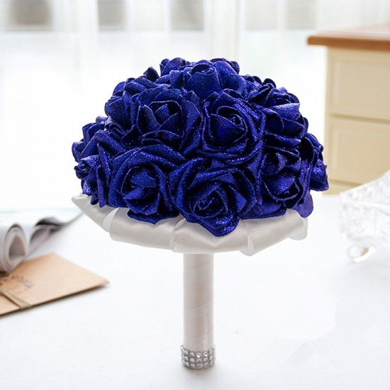 BMbridal Sparkle Multiple Colors Rose Wedding Bouquet_6