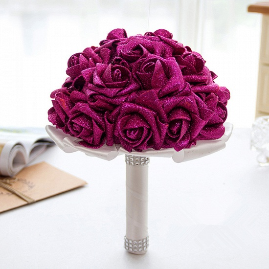 BMbridal Sparkle Multiple Colors Rose Wedding Bouquet_2