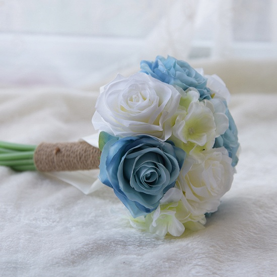 BMbridal Real Touch Artificial Peony and Rose Wedding Bouquet_4