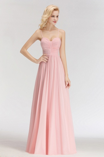 BMbridal Chiffon Spaghetti-Straps Sleeveless Affordable Bridesmaid Dress Online_6