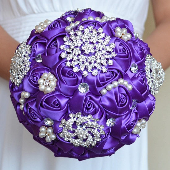 Stunning Beading Wedding Bouquet in Multiple Colors_6