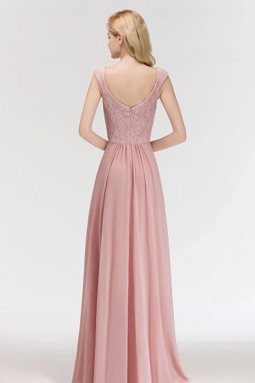 BMbridal Elegant Lace Sweetheart Bridesmaid Dress Online Dusty Rose Chiffon Wedding Party Dress_3