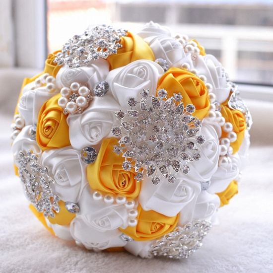 BMbridal Stunning Beading Wedding Bouquet in Multiple Colors_5