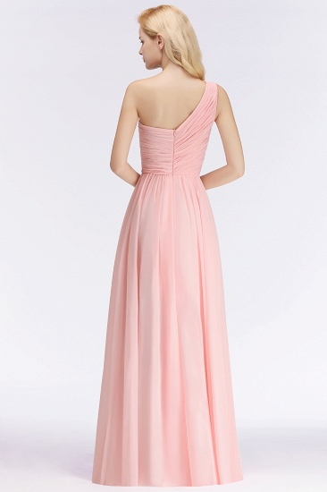Chic One-shoulder Ruffle Sleeveless Bridesmaid Dress Cheap Online_3
