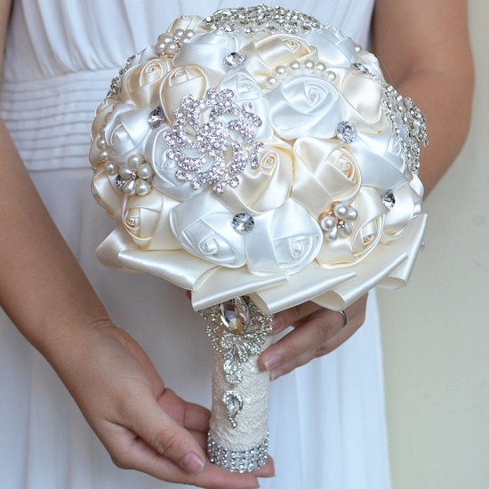 BMbridal Stunning Beading Wedding Bouquet in Multiple Colors_9