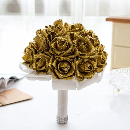 BMbridal Sparkle Multiple Colors Rose Wedding Bouquet_4