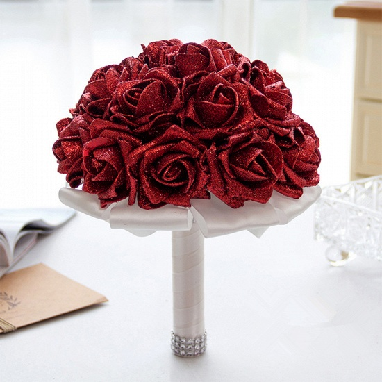 BMbridal Sparkle Multiple Colors Rose Wedding Bouquet_8