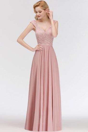 BMbridal Elegant Lace Sweetheart Bridesmaid Dress Online Dusty Rose Chiffon Wedding Party Dress_5