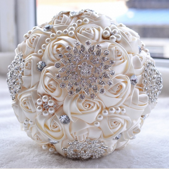 BMbridal Stunning Beading Wedding Bouquet in Multiple Colors_2