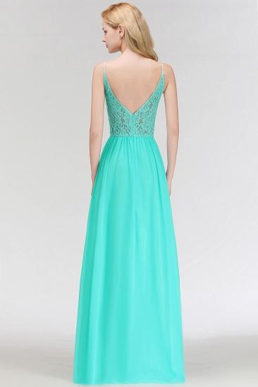 BMbridal Halter Keyhole Lace Long Bridesmaid Dresses On Sale_5
