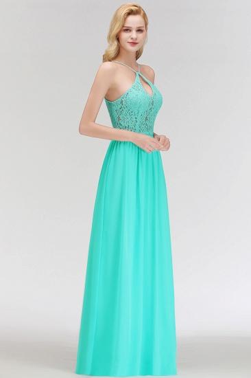 BMbridal Halter Keyhole Lace Long Bridesmaid Dresses On Sale_6