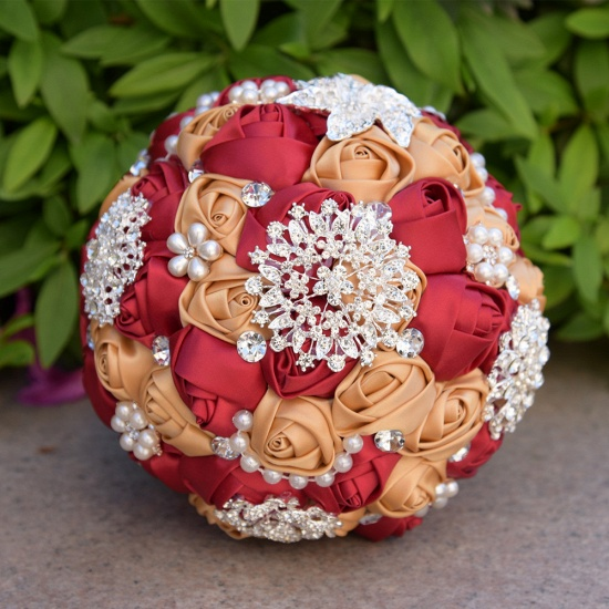 BMbridal Stunning Beading Wedding Bouquet in Multiple Colors_4