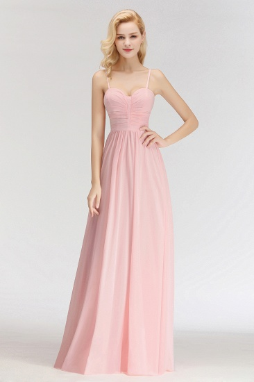 BMbridal Chiffon Spaghetti-Straps Sleeveless Affordable Bridesmaid Dress Online_4
