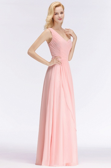 Chic One-shoulder Ruffle Sleeveless Bridesmaid Dress Cheap Online_5