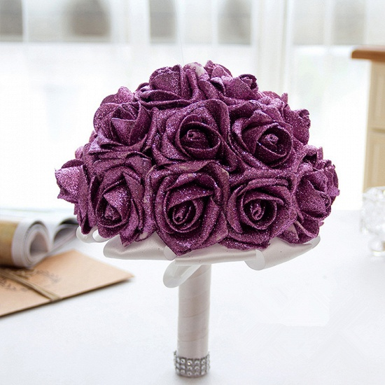BMbridal Sparkle Multiple Colors Rose Wedding Bouquet_5