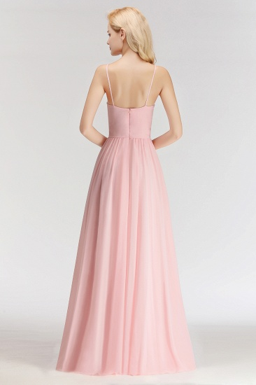 BMbridal Chiffon Spaghetti-Straps Sleeveless Affordable Bridesmaid Dress Online_3