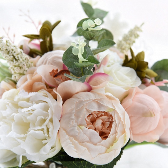 BMbridal Real Touch Colorful Artifial Roses Wedding Bouquet_15