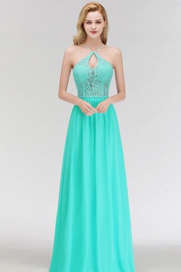 BMbridal Halter Keyhole Lace Long Bridesmaid Dresses On Sale_7