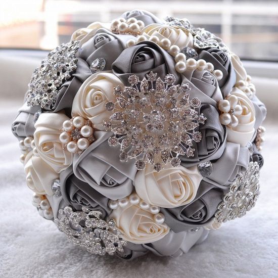 BMbridal Stunning Beading Wedding Bouquet in Multiple Colors_7