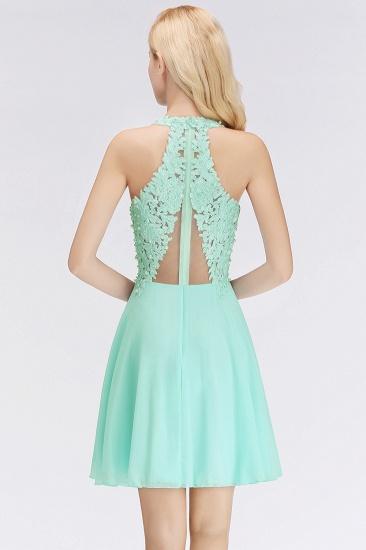 Affordable V-Neck Short Lace Birdesmaid Dresses Online_3