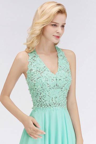 BMbridal A-line V-neck Sleeveless Short Appliques Chiffon Homecoming Dress_10