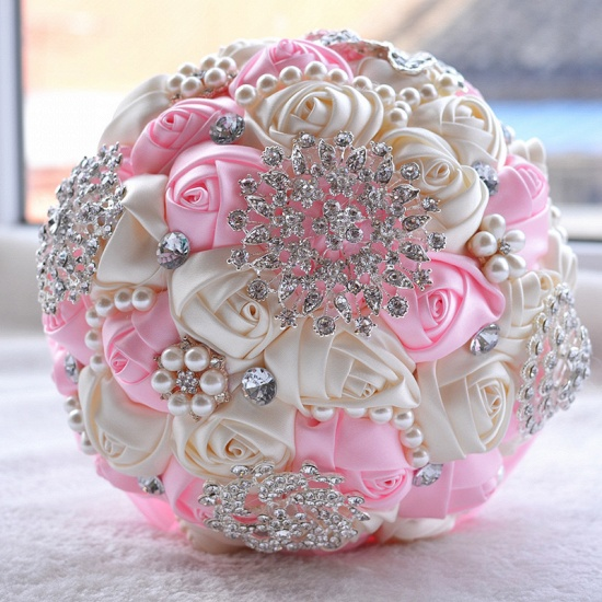 BMbridal Stunning Beading Wedding Bouquet in Multiple Colors_3