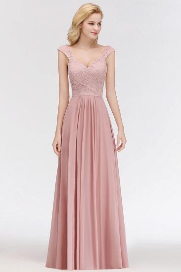 BMbridal Elegant Lace Sweetheart Bridesmaid Dress Online Dusty Rose Chiffon Wedding Party Dress_4
