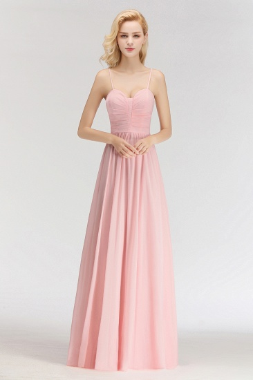 BMbridal Chiffon Spaghetti-Straps Sleeveless Affordable Bridesmaid Dress Online_2