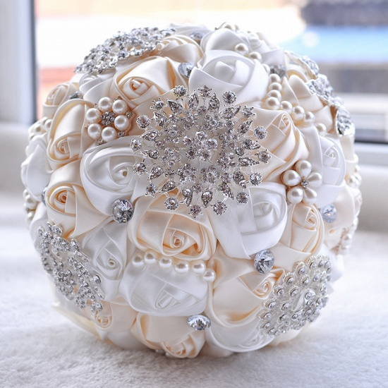 Stunning Beading Wedding Bouquet in Multiple Colors_1