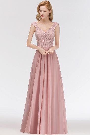 BMbridal Elegant Lace Sweetheart Bridesmaid Dress Online Dusty Rose Chiffon Wedding Party Dress_1