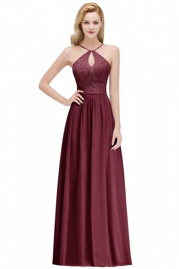 BMbridal Halter Keyhole Lace Long Bridesmaid Dresses On Sale_2
