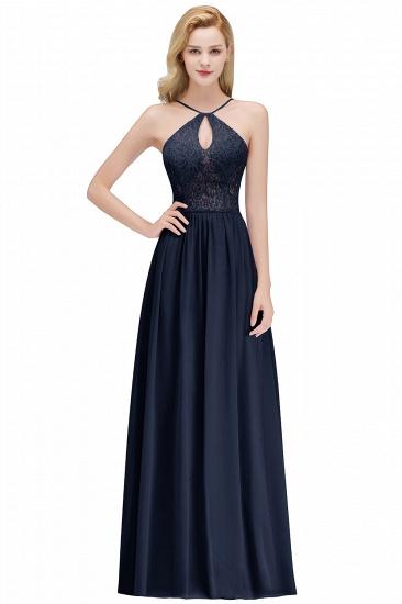 BMbridal Halter Keyhole Lace Long Bridesmaid Dresses On Sale_3